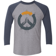 T-Shirts Premium Heather/ Vintage Navy / X-Small Overwatch Triblend 3/4 Sleeve