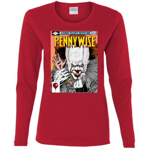 T-Shirts Red / S Pennywise 8+ Women's Long Sleeve T-Shirt