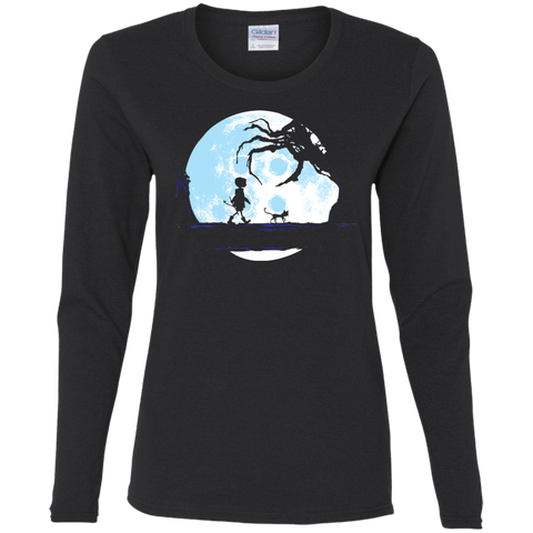 T-Shirts Black / S Perfect Moonwalk- Coraline Women's Long Sleeve T-Shirt