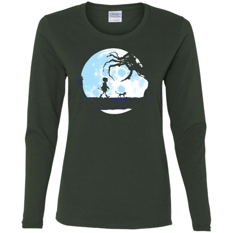 T-Shirts Forest / S Perfect Moonwalk- Coraline Women's Long Sleeve T-Shirt