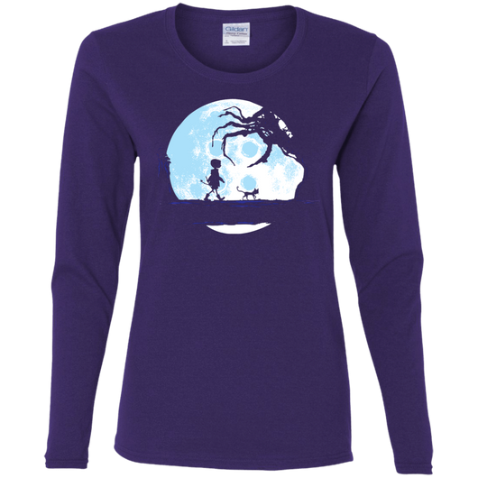 Perfect Moonwalk Coraline Women S Long Sleeve T Shirt Pop Up Tee