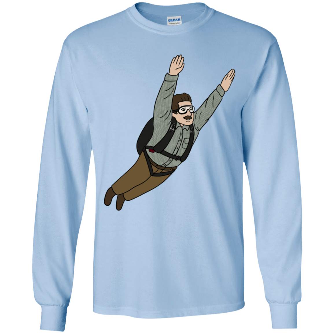 T-Shirts Light Blue / YS Peter is my Hero Youth Long Sleeve T-Shirt