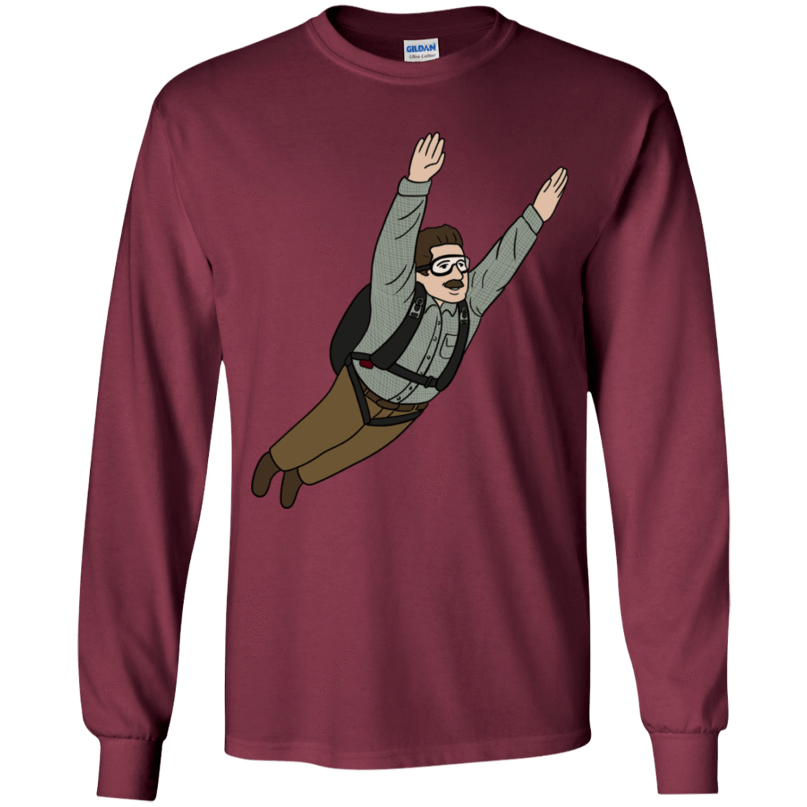 T-Shirts Maroon / YS Peter is my Hero Youth Long Sleeve T-Shirt