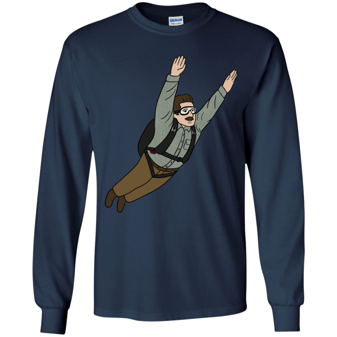 T-Shirts Navy / YS Peter is my Hero Youth Long Sleeve T-Shirt