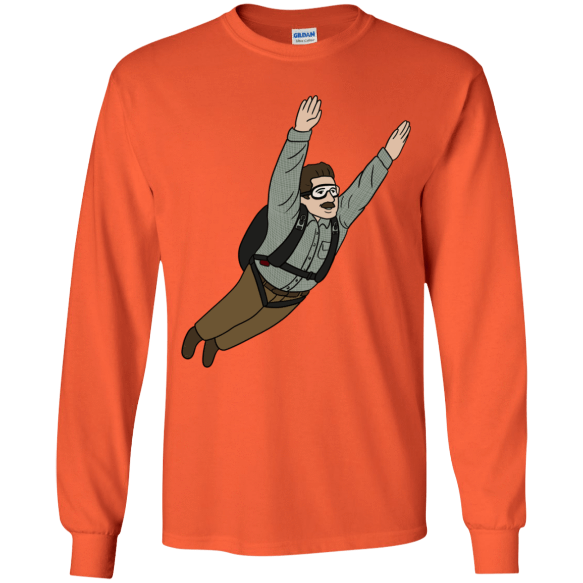 T-Shirts Orange / YS Peter is my Hero Youth Long Sleeve T-Shirt