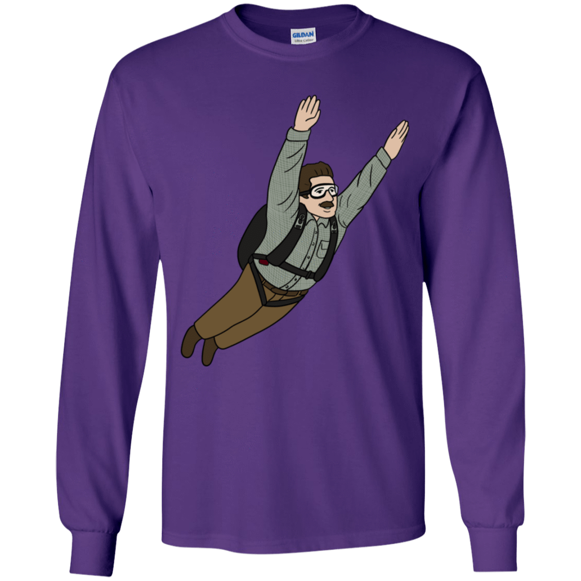 T-Shirts Purple / YS Peter is my Hero Youth Long Sleeve T-Shirt