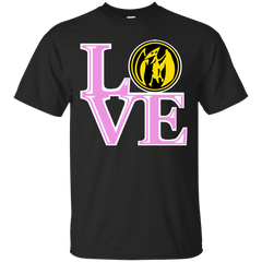 T-Shirts Black / Small Pink Ranger LOVE T-Shirt