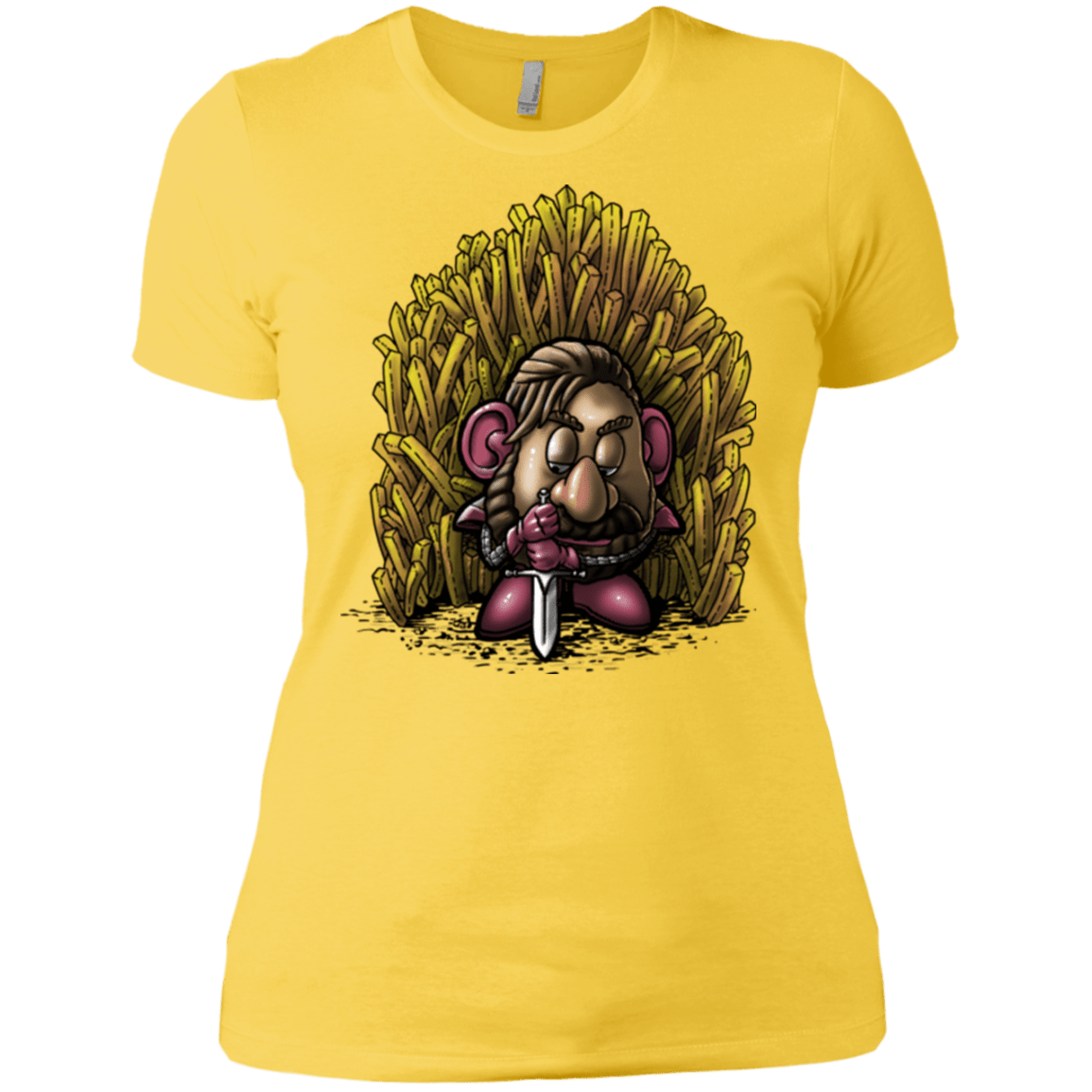T-Shirts Vibrant Yellow / X-Small Potato Women's Premium T-Shirt