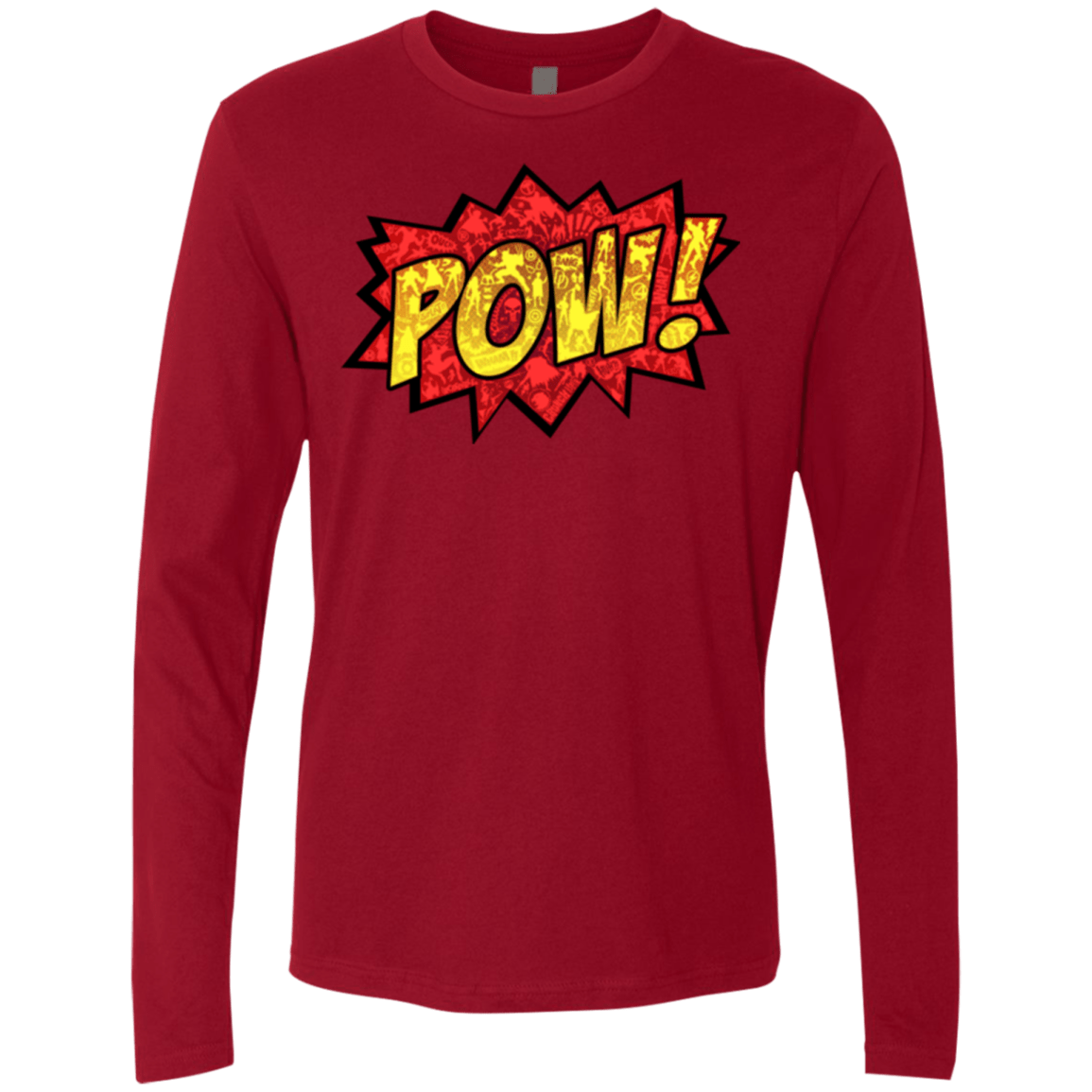 T-Shirts Cardinal / Small pow Men's Premium Long Sleeve