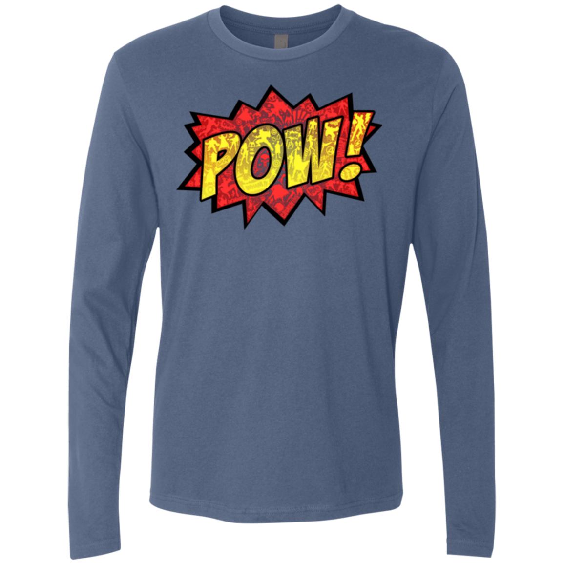T-Shirts Indigo / Small pow Men's Premium Long Sleeve