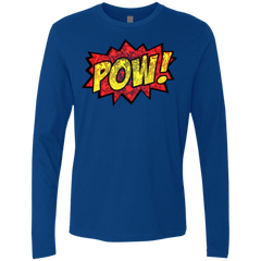 T-Shirts Royal / Small pow Men's Premium Long Sleeve
