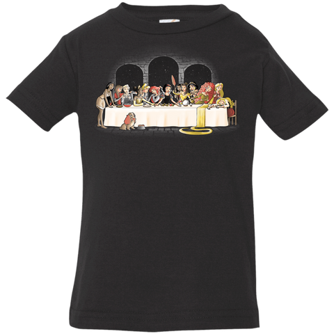 T-Shirts Black / 6 Months Princess Dinner (2) Infant Premium T-Shirt