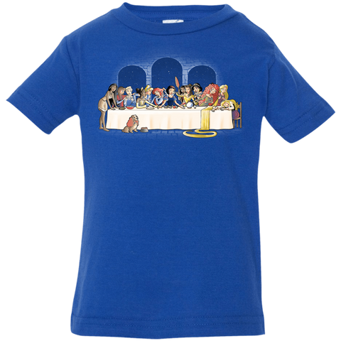 T-Shirts Royal / 6 Months Princess Dinner (2) Infant Premium T-Shirt