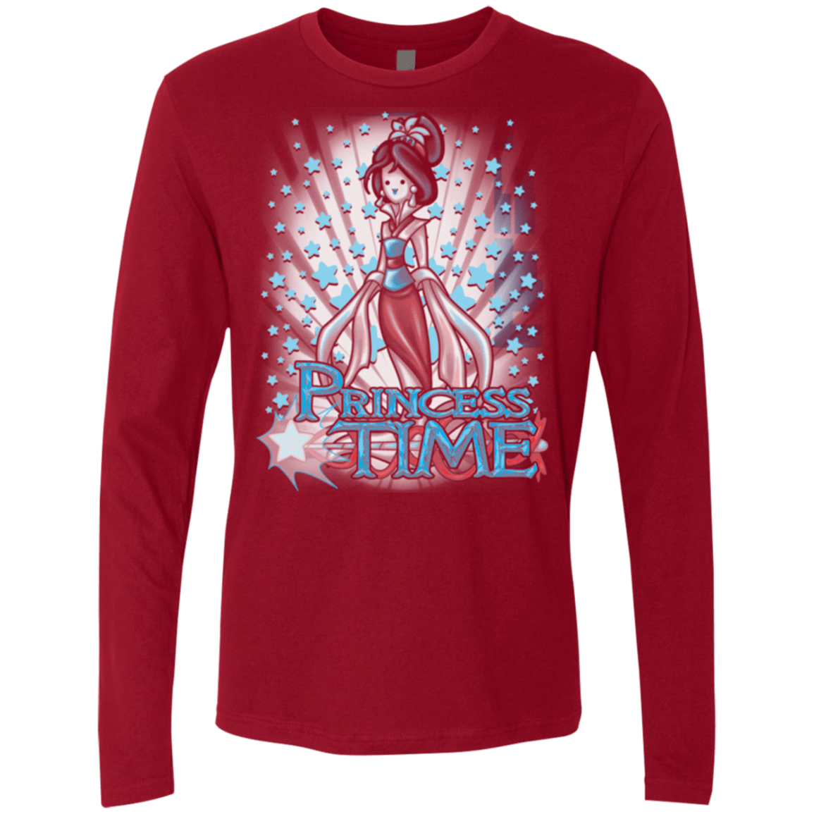 T-Shirts Cardinal / Small Princess Time Mulan Men's Premium Long Sleeve