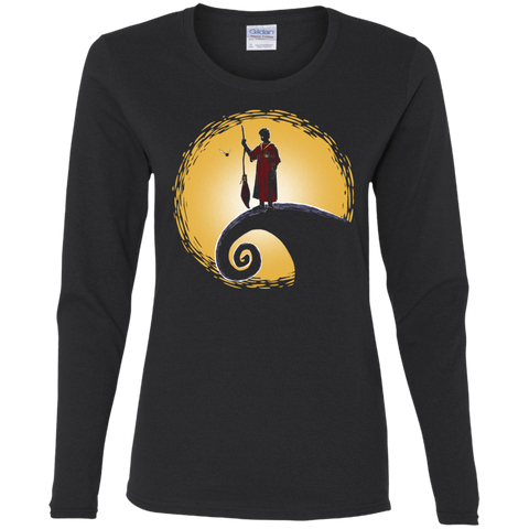 T-Shirts Black / S Quidditch before Christmas Women's Long Sleeve T-Shirt