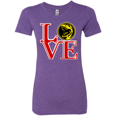 T-Shirts Purple Rush / Small Red Ranger LOVE Women's Triblend T-Shirt