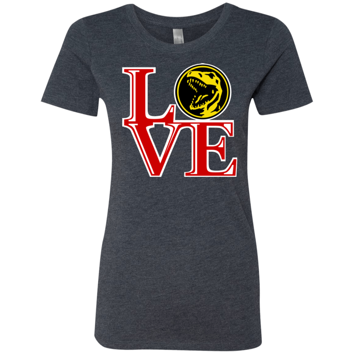 T-Shirts Vintage Navy / Small Red Ranger LOVE Women's Triblend T-Shirt