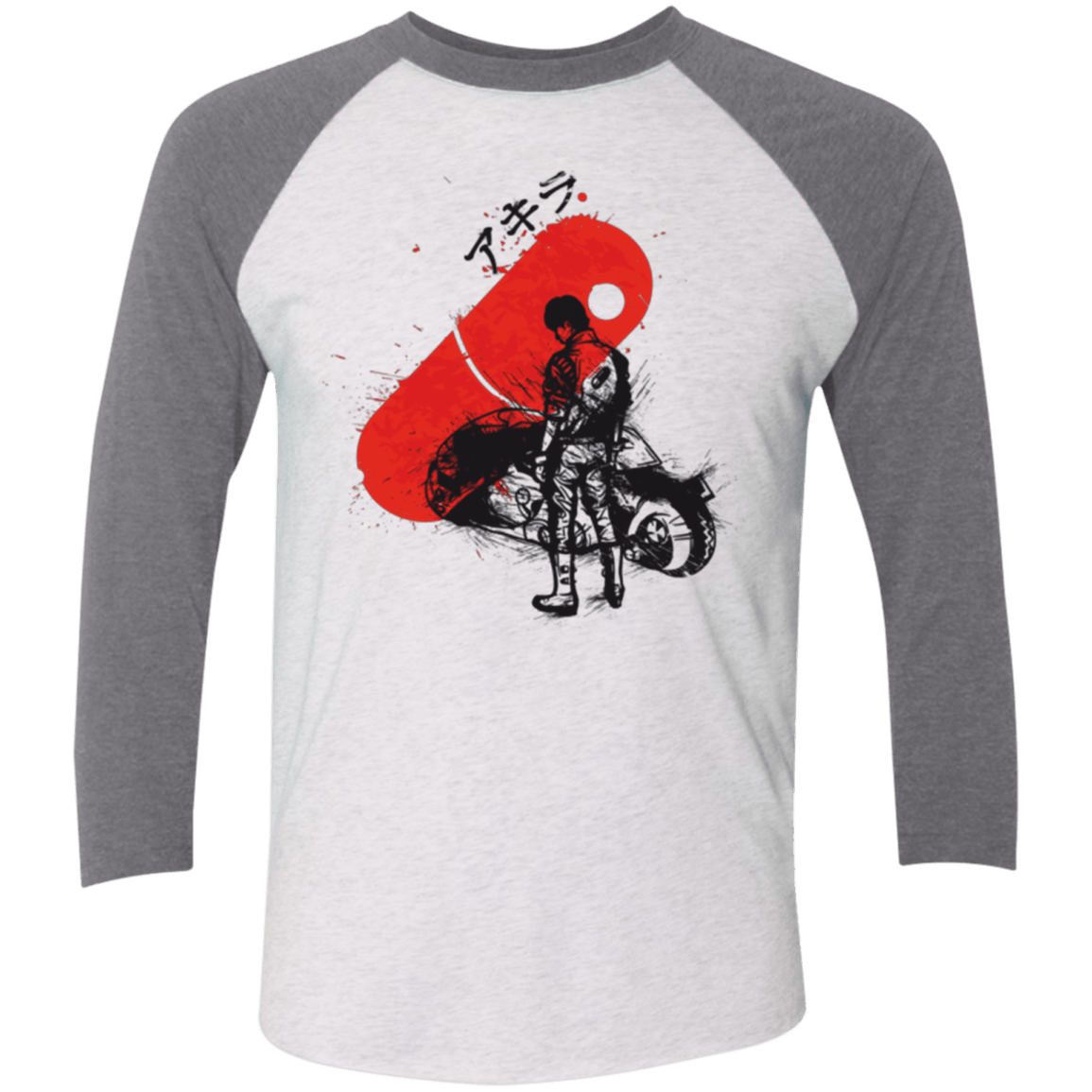 T-Shirts Heather White/Premium Heather / X-Small RED SUN AKIRA Men's Triblend 3/4 Sleeve