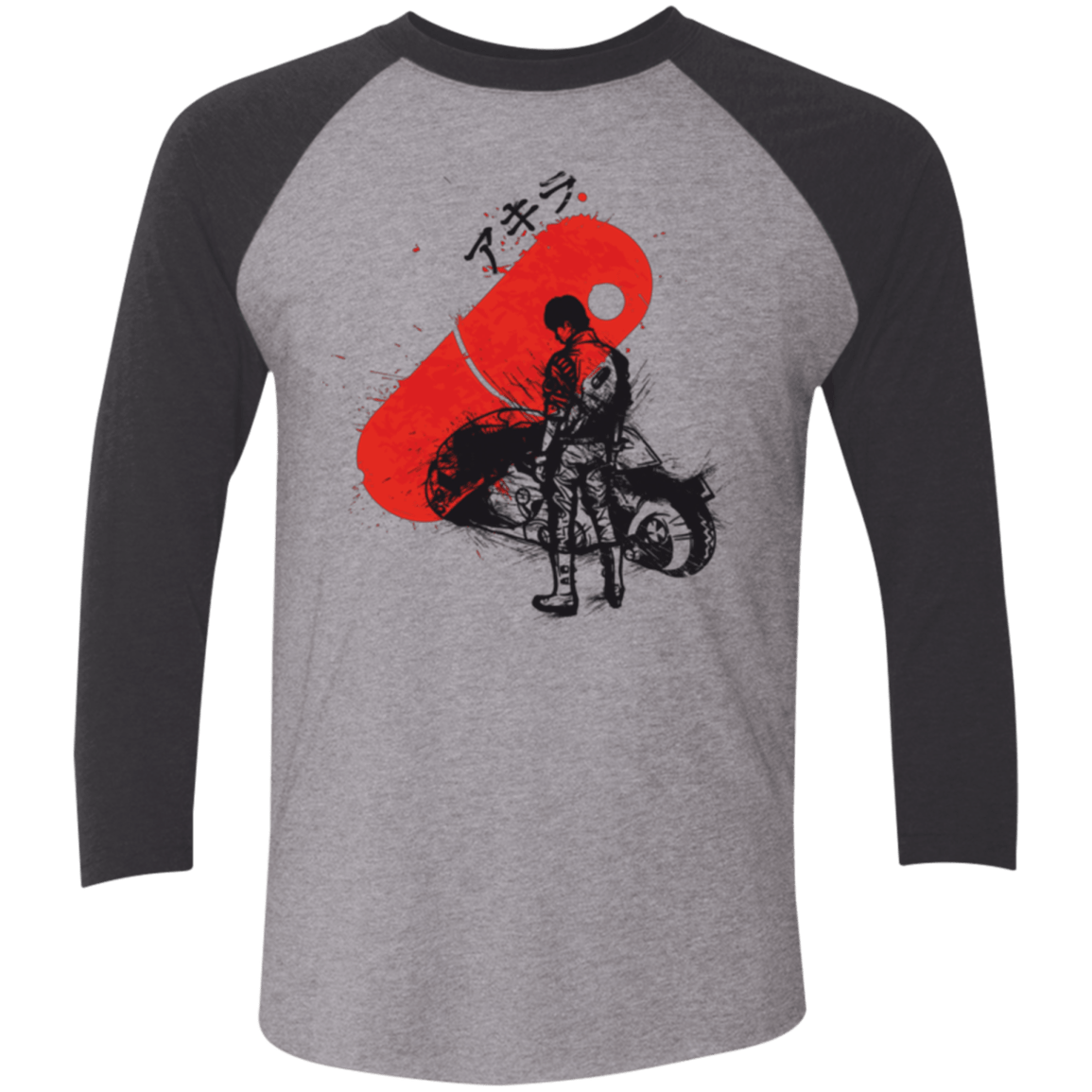 T-Shirts Premium Heather/ Vintage Black / X-Small RED SUN AKIRA Men's Triblend 3/4 Sleeve