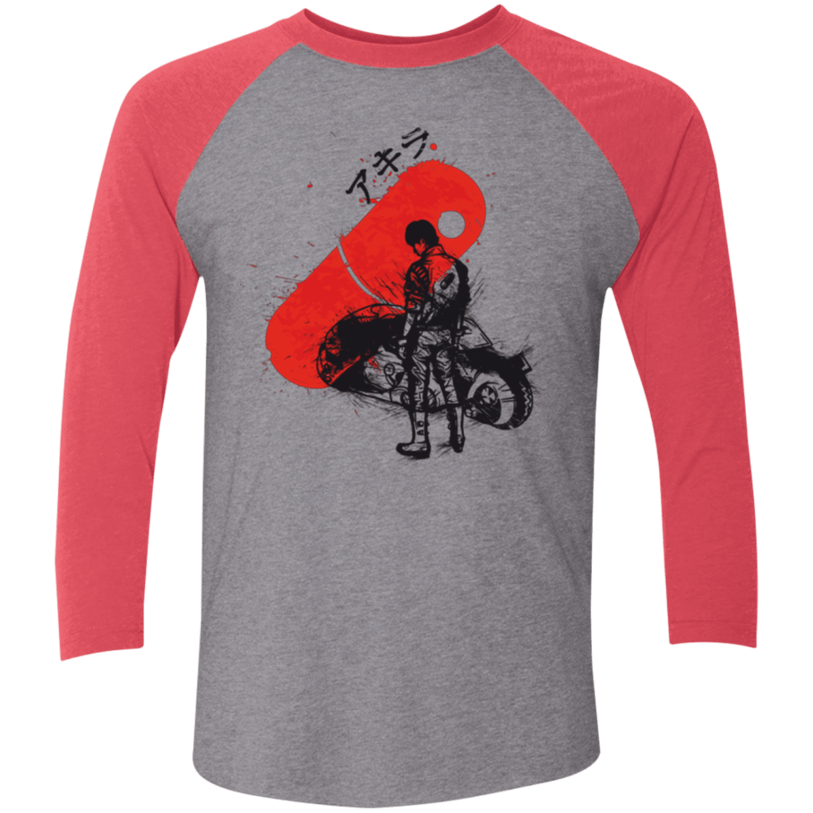 T-Shirts Premium Heather/ Vintage Red / X-Small RED SUN AKIRA Men's Triblend 3/4 Sleeve