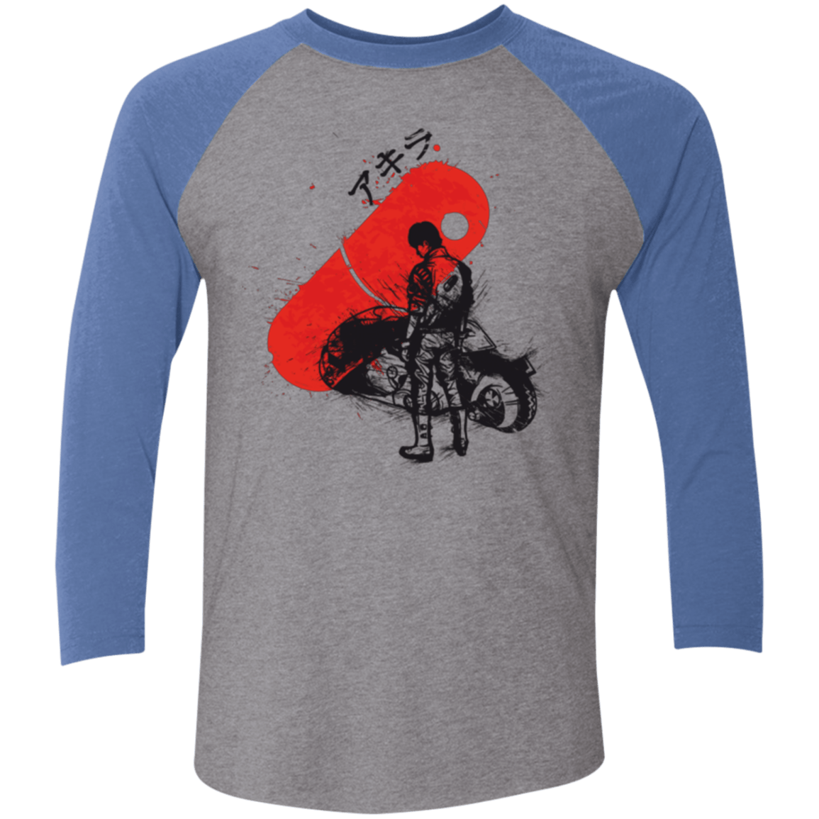 T-Shirts Premium Heather/ Vintage Royal / X-Small RED SUN AKIRA Men's Triblend 3/4 Sleeve