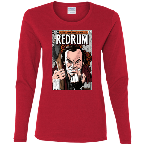 T-Shirts Red / S Redrum Women's Long Sleeve T-Shirt