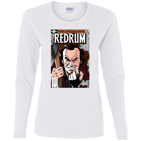 T-Shirts White / S Redrum Women's Long Sleeve T-Shirt