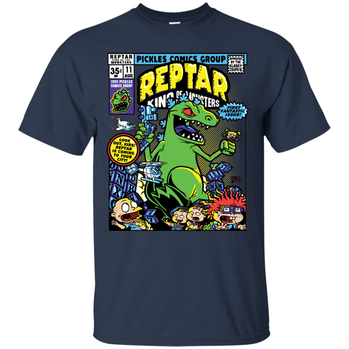 T-Shirts Navy / S REPTAR T-Shirt