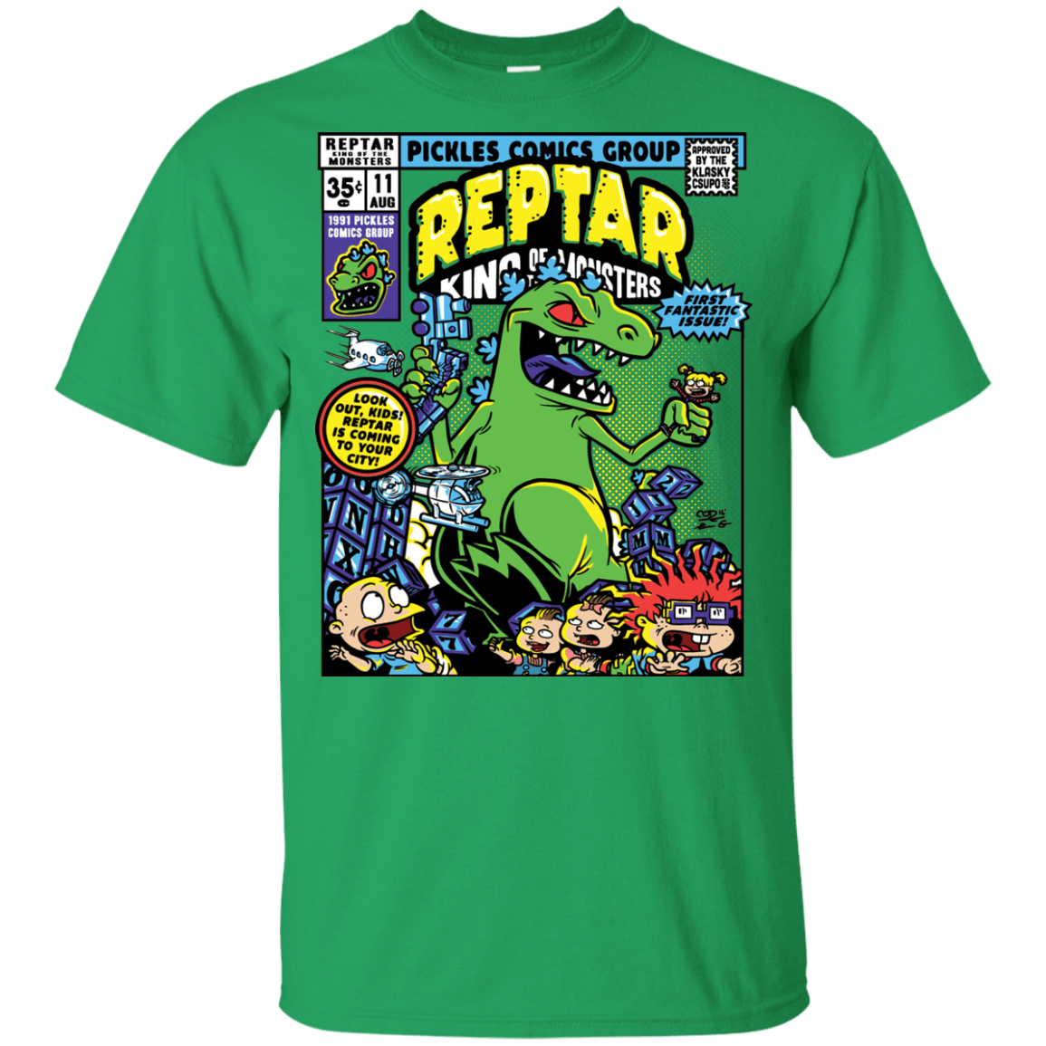 T-Shirts Irish Green / YXS REPTAR Youth T-Shirt