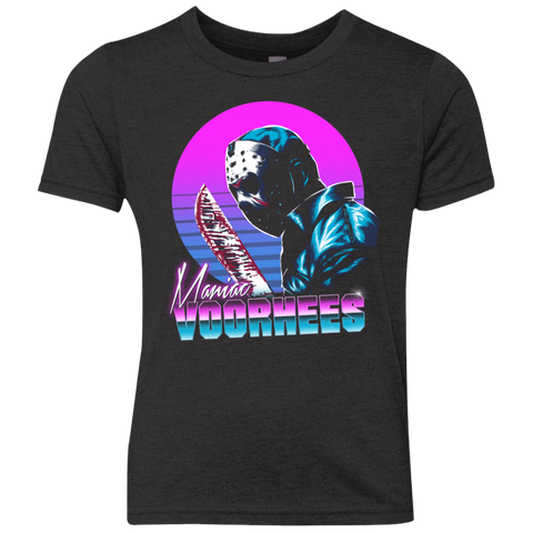 Retro Voorhees Youth Triblend T-Shirt