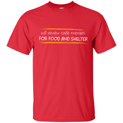 Reviewing Code For Food And Shelter T-Shirt