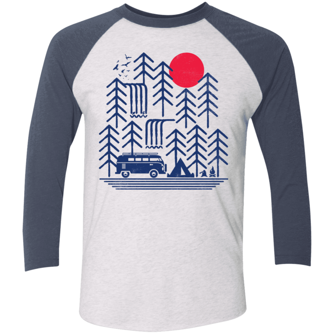 Road Trip Days Men's Triblend 3/4 Sleeve