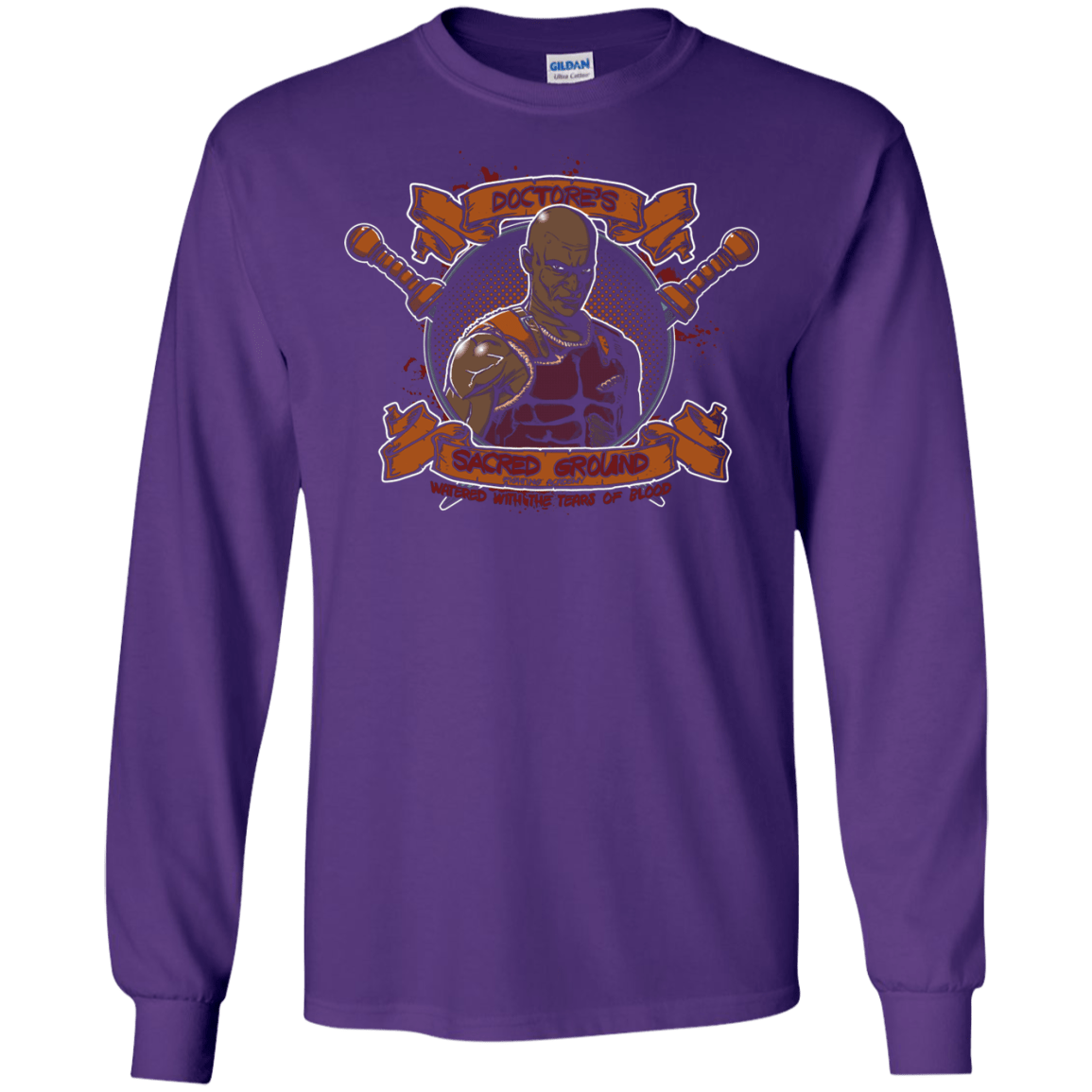 T-Shirts Purple / S Sacred Ground Men's Long Sleeve T-Shirt