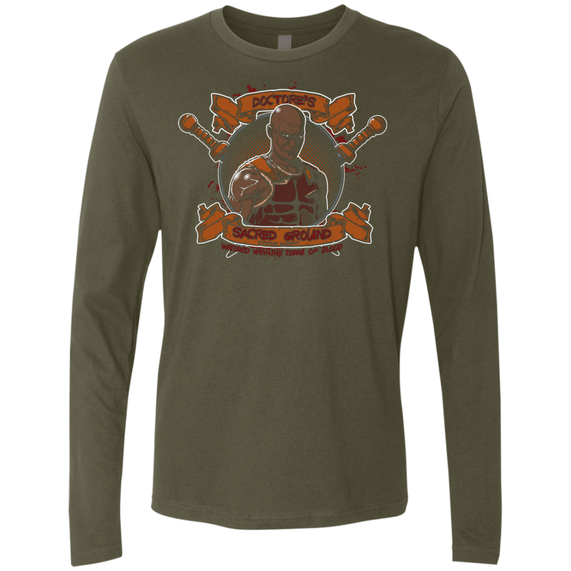 T-Shirts Military Green / S Sacred Ground Men's Premium Long Sleeve