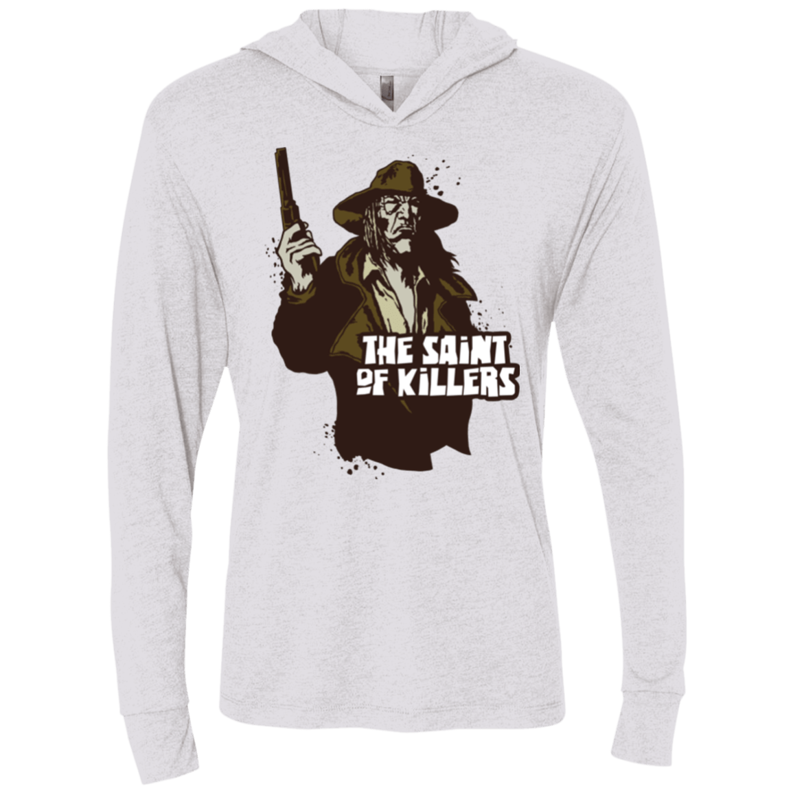 T-Shirts Heather White / X-Small Saint Of Killers Triblend Long Sleeve Hoodie Tee