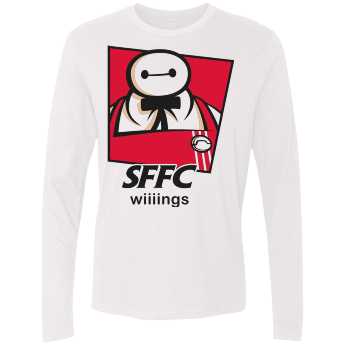T-Shirts White / Small San Fransokyo Fried Chicken Men's Premium Long Sleeve