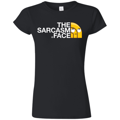 Sarcasm Face Junior Slimmer-Fit T-Shirt