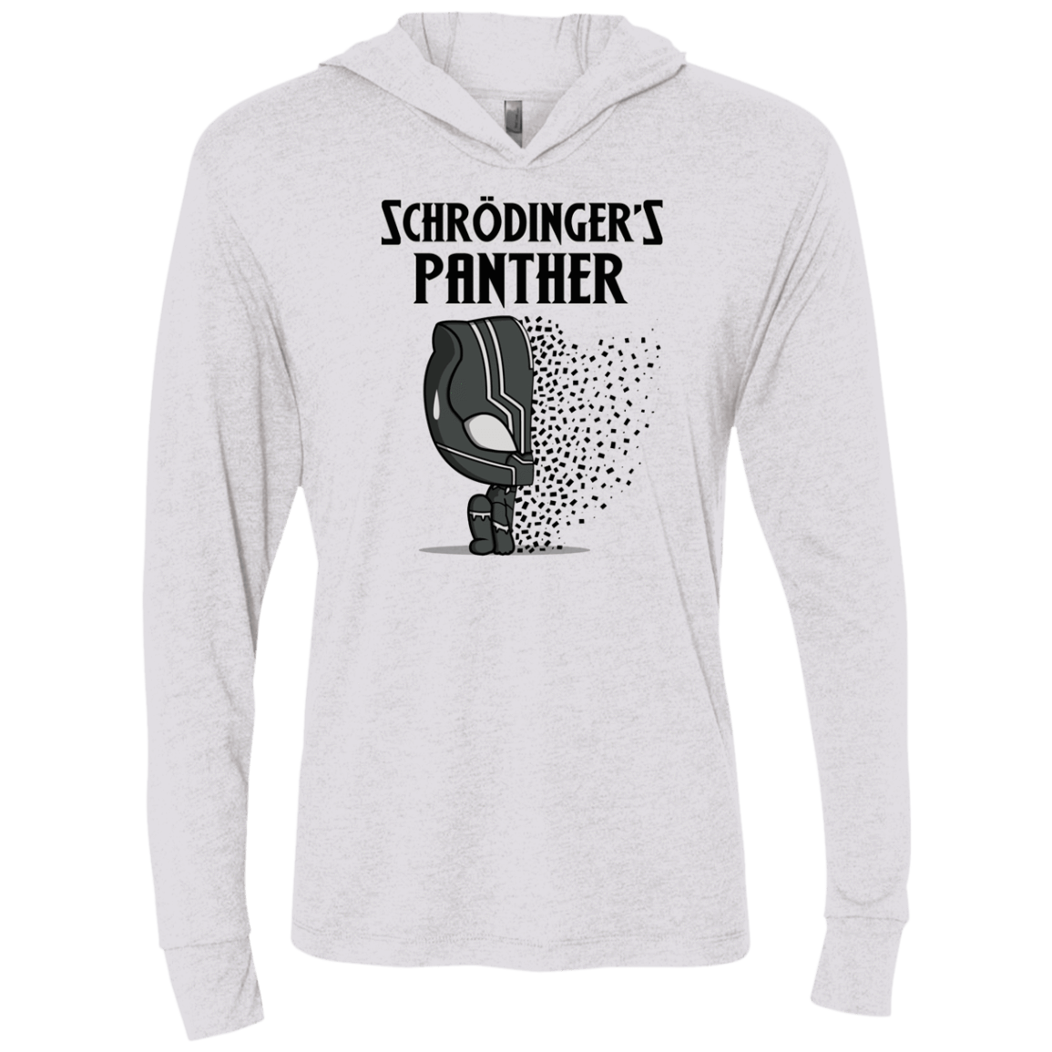 T-Shirts Heather White / X-Small Schrodingers Panther Triblend Long Sleeve Hoodie Tee