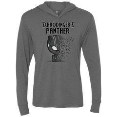 T-Shirts Premium Heather / X-Small Schrodingers Panther Triblend Long Sleeve Hoodie Tee