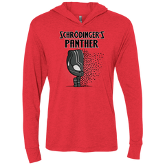 T-Shirts Vintage Red / X-Small Schrodingers Panther Triblend Long Sleeve Hoodie Tee