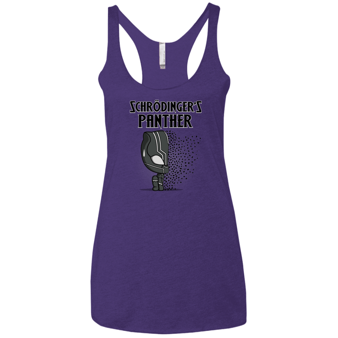 T-Shirts Purple Rush / X-Small Schrodingers Panther Women's Triblend Racerback Tank