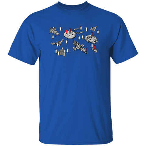 T-Shirts Royal / S Sci-Fi Battleship T-Shirt
