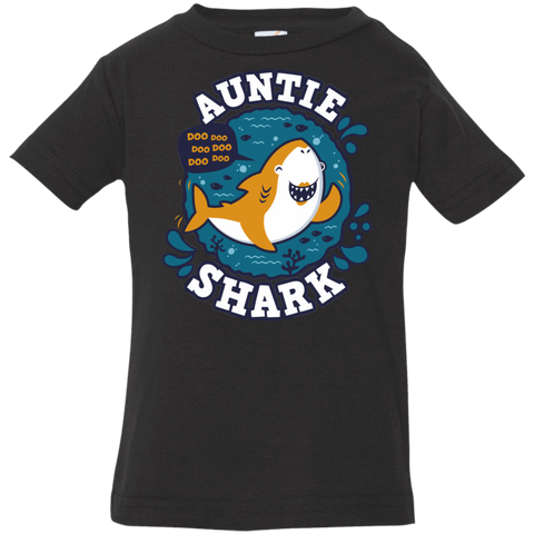 T-Shirts Black / 6 Months Shark Family Trazo - Auntie Infant Premium T-Shirt