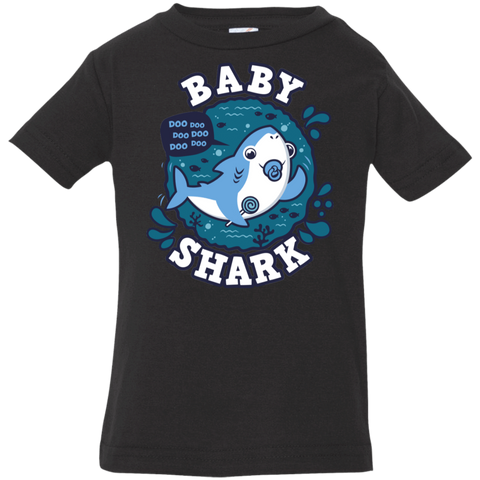 T-Shirts Black / 6 Months Shark Family trazo - Baby Boy chupete Infant Premium T-Shirt