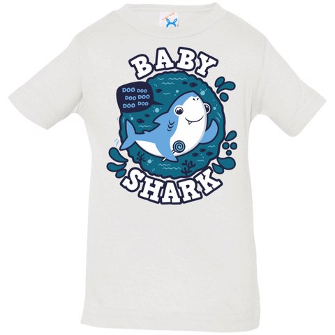 T-Shirts White / 6 Months Shark Family trazo - Baby Boy Infant Premium T-Shirt