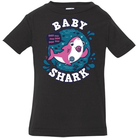 Shark Family trazo - Baby Girl chupete Infant Premium T-Shirt