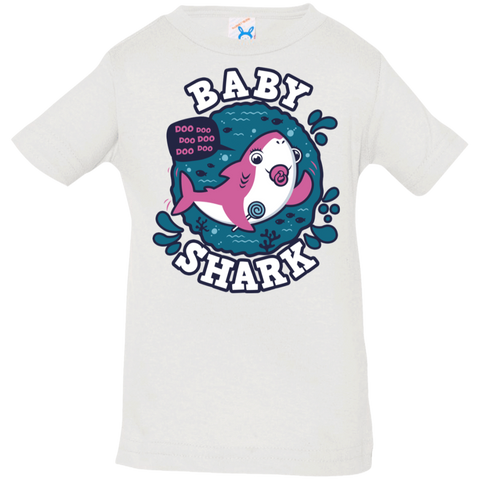 T-Shirts White / 6 Months Shark Family trazo - Baby Girl chupete Infant Premium T-Shirt