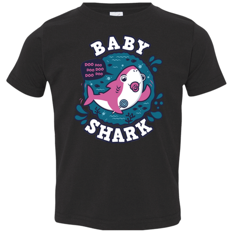 Shark Family trazo - Baby Girl chupete Toddler Premium T-Shirt