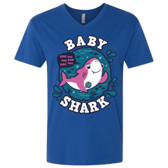 Shark Family trazo - Baby Girl Men's Premium V-Neck