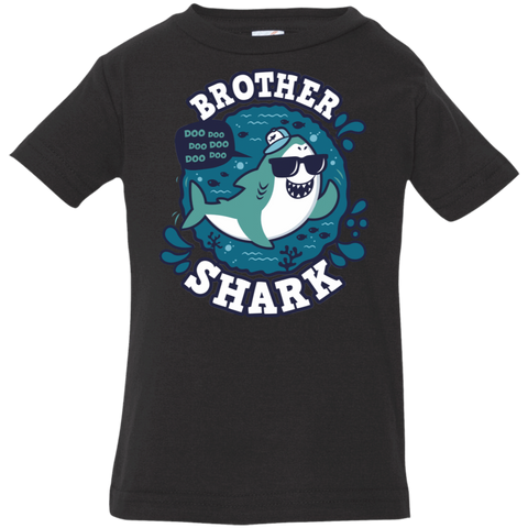 T-Shirts Black / 6 Months Shark Family trazo - Brother Infant Premium T-Shirt